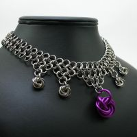 Purple Moebius Choker II by Utopia-Armoury