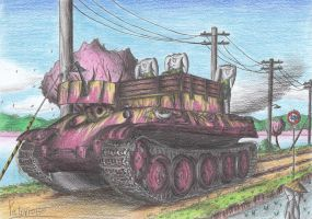 Bergepanther Tank by Patoriotto