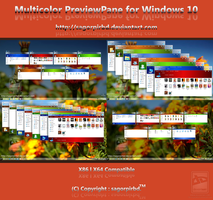 Multicolor Previewpane for Win10 by sagorpirbd