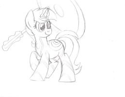 Lyra Tron Sketch by drawponies
