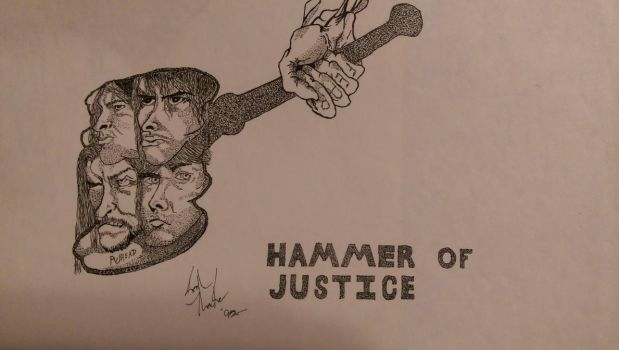 Hammer of Justice- Metallica/Pushead tribute piece by Evilnok