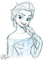 Elsa for a little girl in need by tombancroft