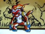 Paperchild 503.Pokemon#392 - Infernape by FuriarossaAndMimma
