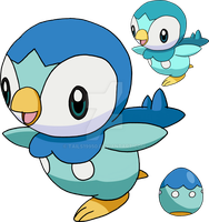 393 - Piplup Art v.2 by Tails19950