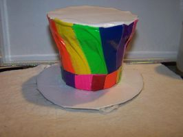 Duct Tape Mini Hat Rainbow 2 by Mitsukai-freak-527