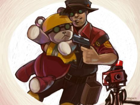 Teddy Roosebelt and Engie by togaco