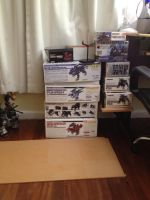 Back Log of Zoids to build by JRMzoids