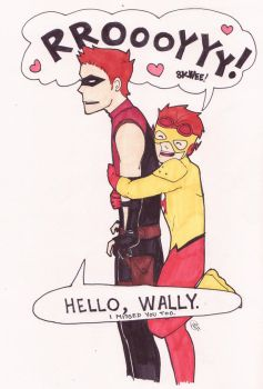 Wally and Roy by AironKennell