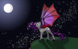 MLP OC Enchanted Moon by snakehands