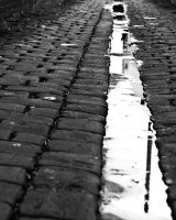 cobbled stone reflections by Mashtee