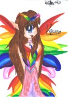 Princess of the Rainbow Aurora by RiddleMaker