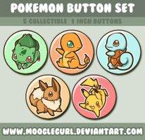 Pokemon Button Set by MoogleGurl