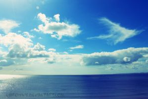 Blue sky and sea by cjbrownie