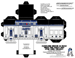 Cubee FAMILY GUY STAR WARS Cleveland as R2-D2 V1 by njr75003