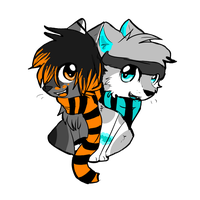 Zuki and Silver by starbars