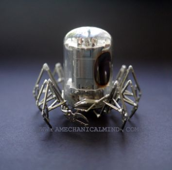 Vacuum Tube and Watch Parts Spider by AMechanicalMind