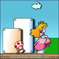 Toad and Peach by lil-mikoto