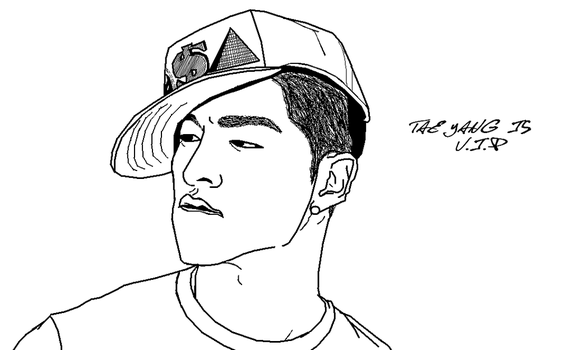 Tae Yang is V.I.P lineart by bloodplusrocks