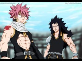 Fairy Tail 294: Natsu and Gajeel by AR-UA