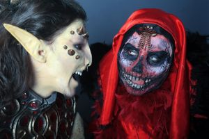 Masque of the Red Death and Dremora by elenasamko