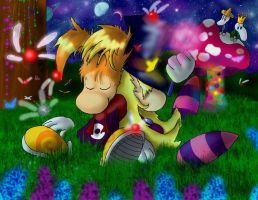 Rayman and Houdini by pikachu-25