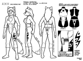 A I X I V -ref sheet- by megawolf77