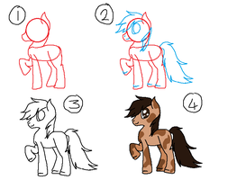 How To Draw A Pony Thing .-. by kittyproc