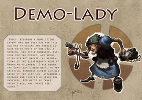 TF2 - Demo-Lady by isso09
