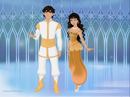 Aladdin and Princess Badroulbadour by Kailie2122