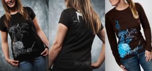 womens t shirt by Emberblue