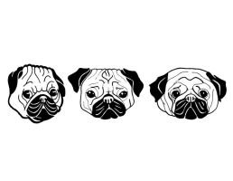 Graphic Pugs by hannahcardoso