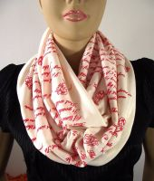 Love Poem Infinity Scarf - Emily Dickinson Poems by LiliaVanini