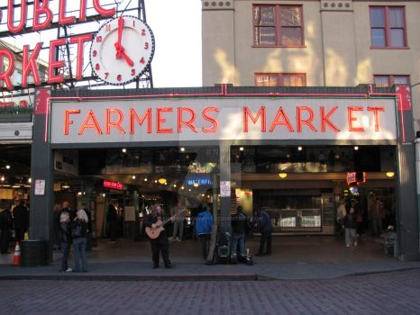 Just Another Day At Seattle Farmers Market by shamishabryant