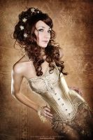 "Overbust Corset ""Aurum"" by v-couture-boutique"
