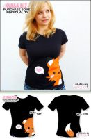 kyaaa.biz Shirt - Fox Black by shiricki