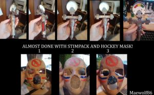 Almost done Mask and stimpack by Maewolf86