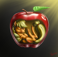 Inside the apple by The1Xeno1