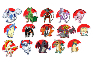Pokemon Buttons test by costume-cat