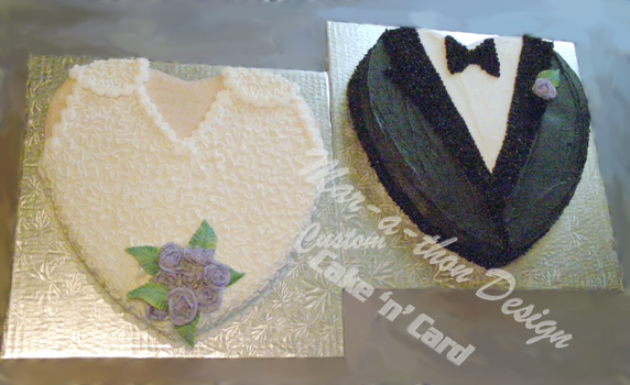 Bride And Groom Cake by Mar-a-thon
