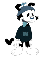 Wakko Warner - black and white style from comics by MarcosLucky96
