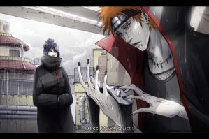 Pein remembering Jiraya by Kibbitzer