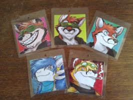 Badges ready for Confuzzled 2012 by FelixTheFurryFox
