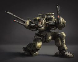 Battle Mech - Highlanders Rifleman by Shimmering-Sword
