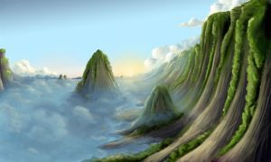 landscape cliffs by Syntetyc