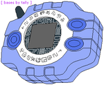 Digimon Adventure 01 Digivice by basesbytally