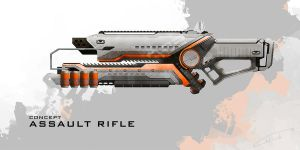 Assault Rifle concept by CoffeeStainStudios