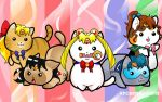 SAILOR MOON KITTIES by AceroTiburon