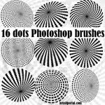 Burst of dots Photoshop brsuhes by Brushportal