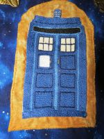 TARDIS embroidery by SarahTheSlightlyMad