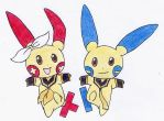 Rin and Len Kagamine - Pokemon by ze4elements